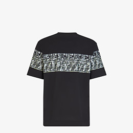FENDI T-SHIRT - Black cotton T-shirt - view 2 thumbnail
