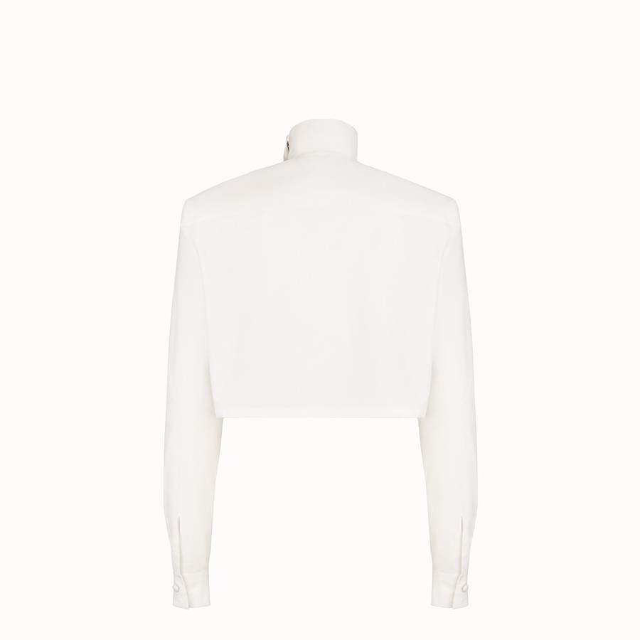 FENDI BLOUSE - White cotton blouse - view 2 detail