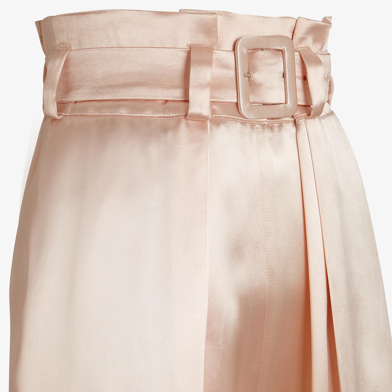 FENDI PANTS - Pink satin pants - view 3 detail