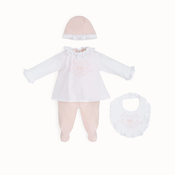 FENDI BABY KIT - Red and pink jersey and poplin kit - view 1 small thumbnail