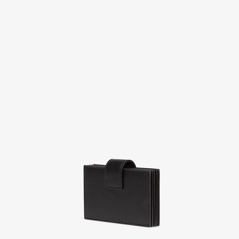 FENDI CARD HOLDER - Black leather gusseted card holder - view 2 detail