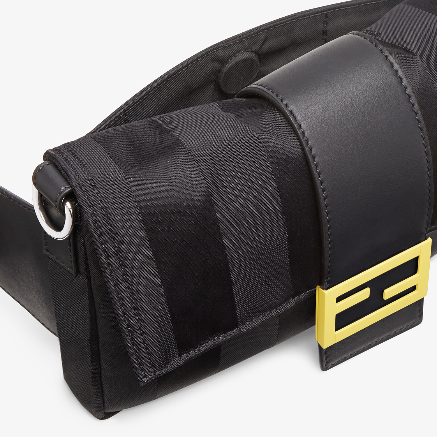 FENDI BAGUETTE - Black nylon bag - view 6 detail