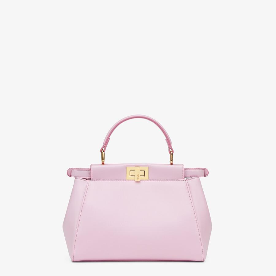 FENDI PEEKABOO MINI - Pink nappa leather bag - view 3 detail