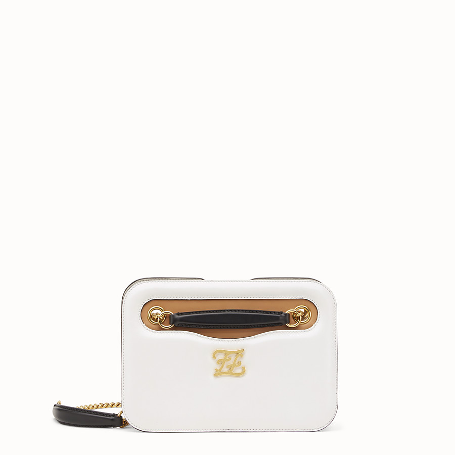 FENDI KARLIGRAPHY POCKET - White leather bag - view 1 detail