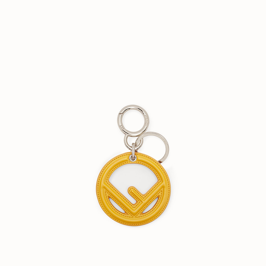 FENDI KEY RING - Yellow leather key ring - view 1 detail