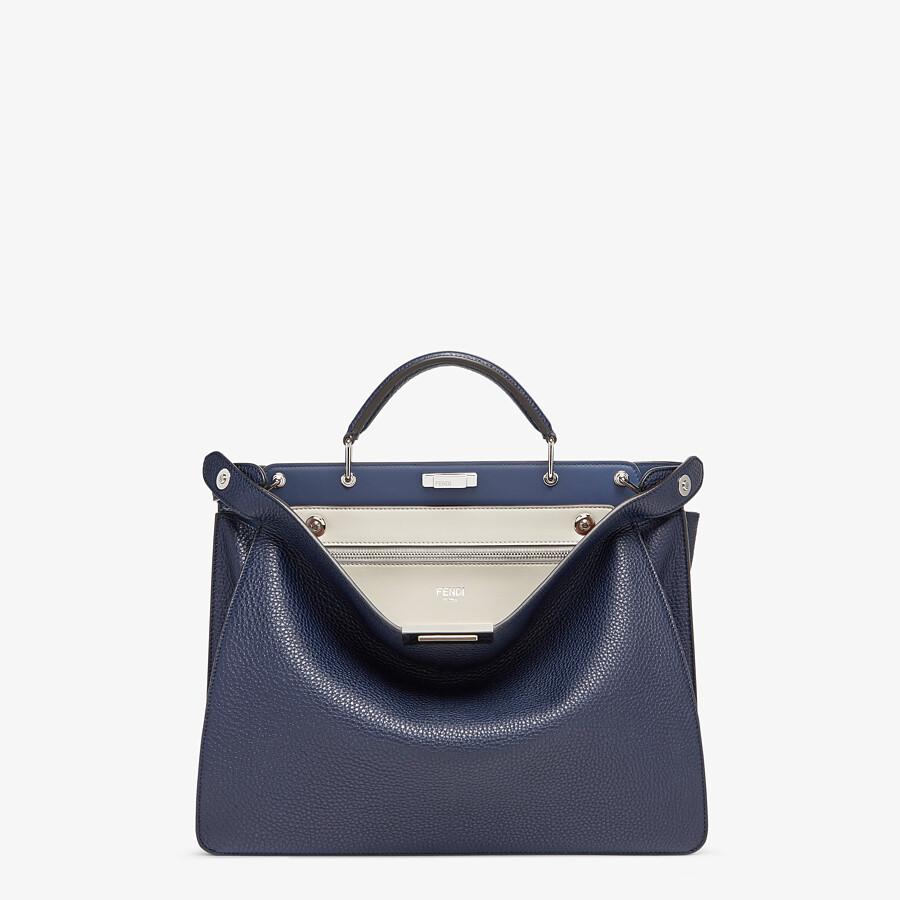 FENDI PEEKABOO ISEEU MEDIUM - Dark blue leather bag - view 1 detail