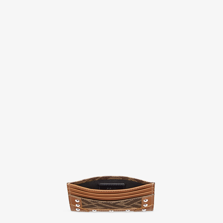 FENDI 卡片套 - 棕色布料卡片套 - view 3 detail