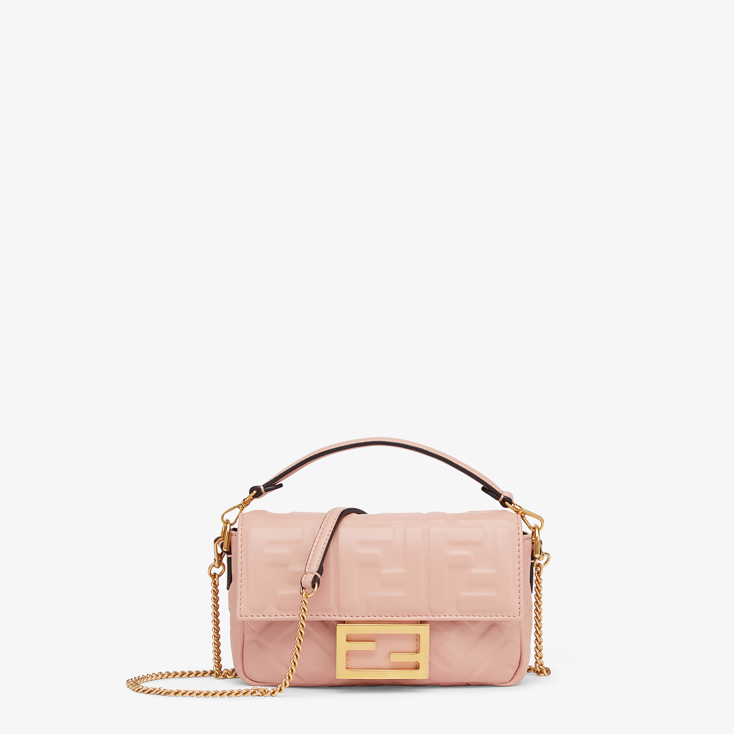 FENDI BAGUETTE - Pink nappa leather bag - view 1 detail