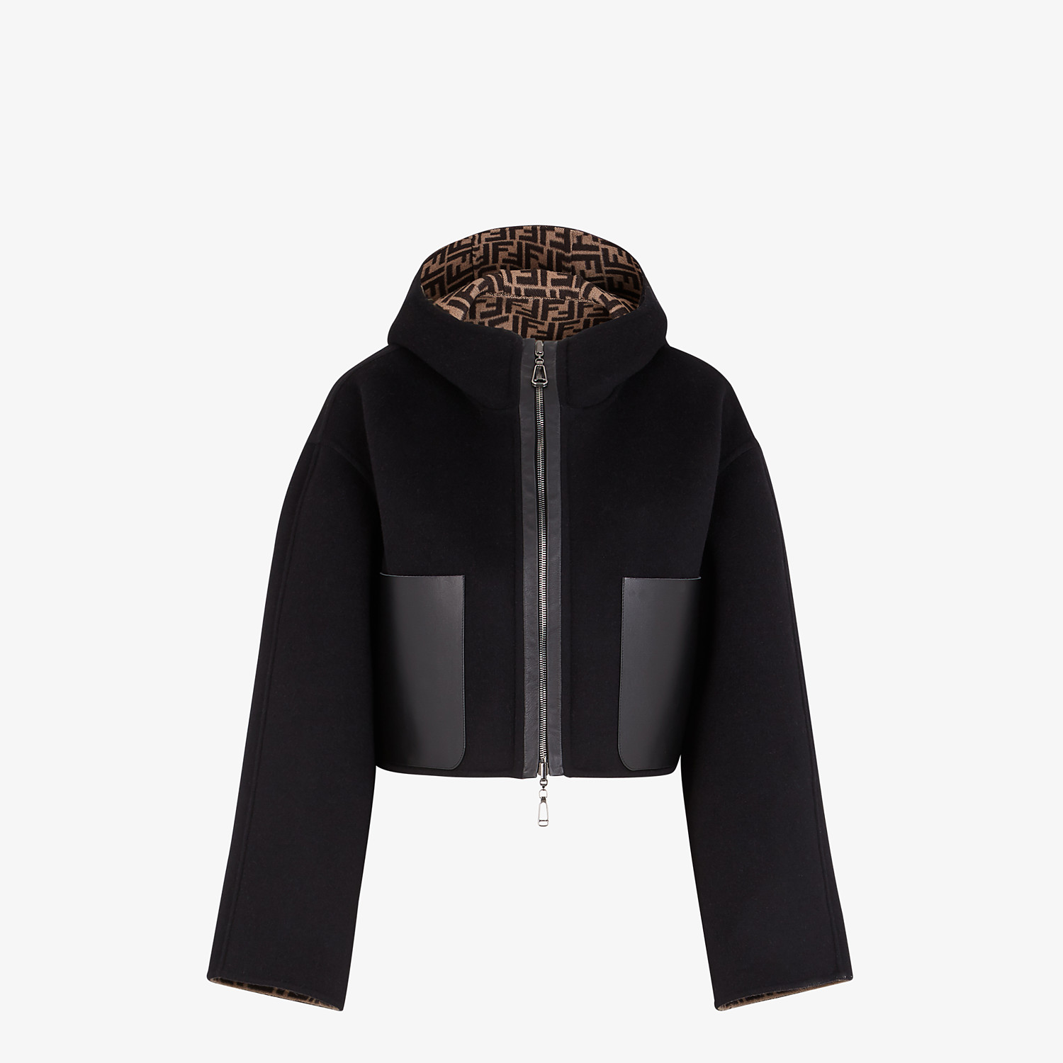 FENDI JACKET - Black wool jacket - view 1 detail