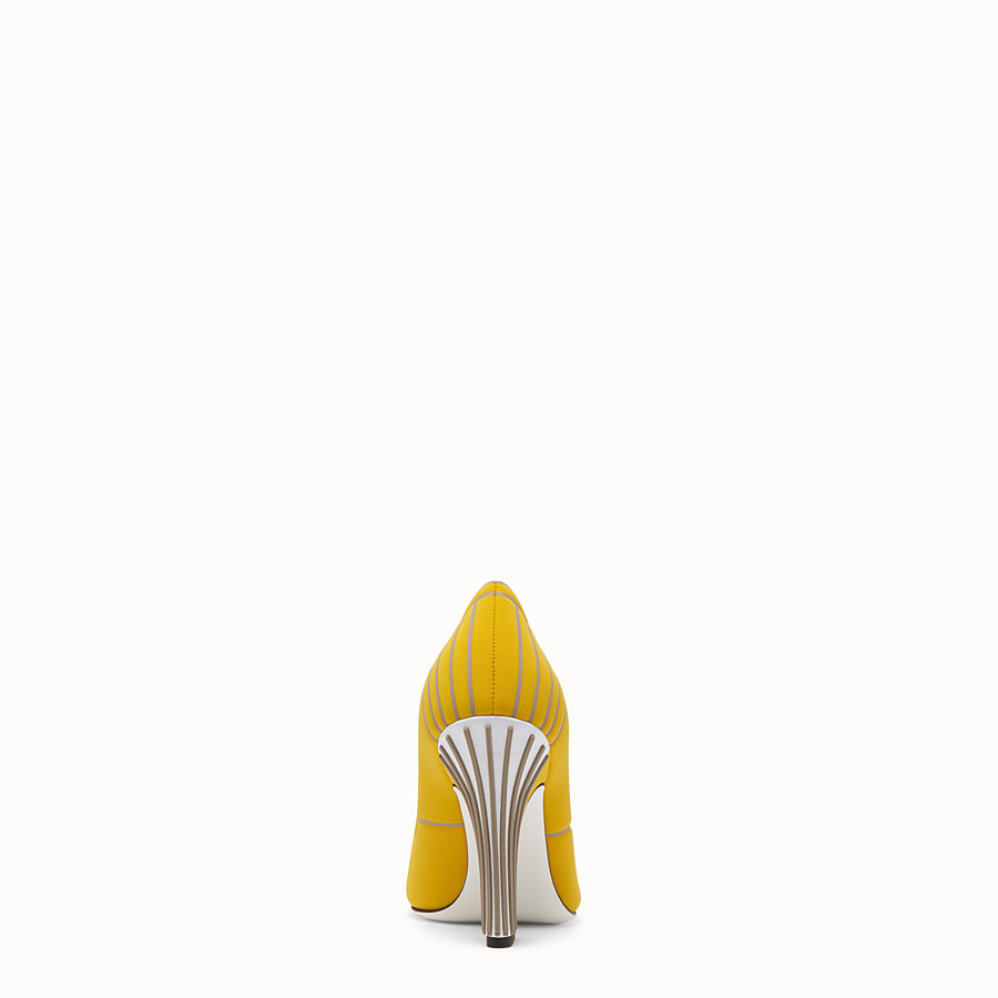 FENDI COURT SHOES - Court shoes in yellow fabric - view 3 detail