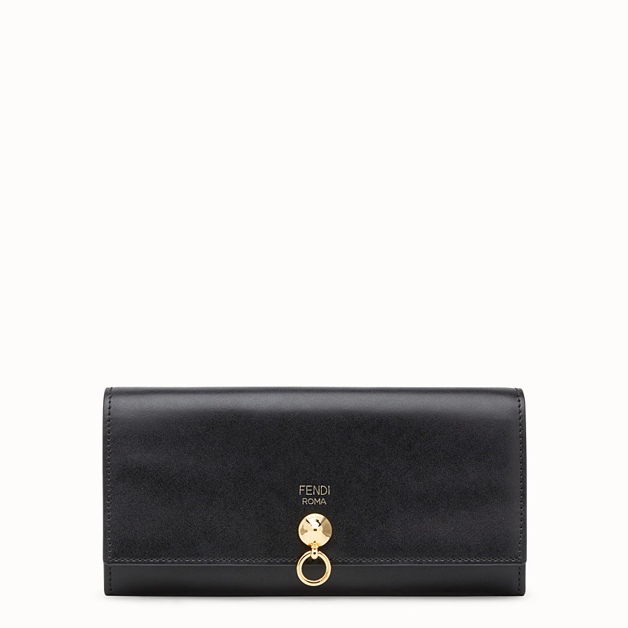 FENDI CONTINENTAL - Black leather continental wallet - view 1 detail