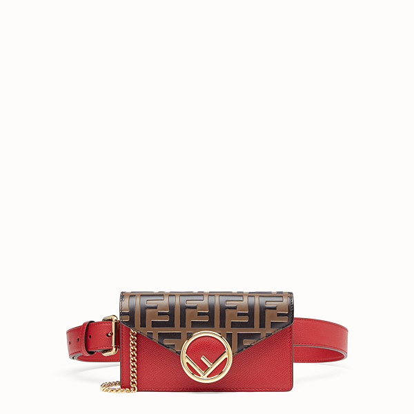 FENDI BELT BAG - Red leather belt bag - view 1 small thumbnail