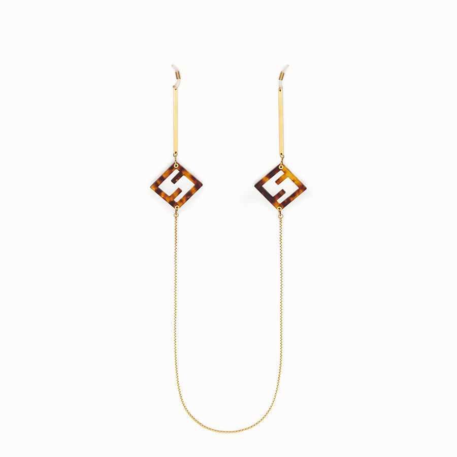 FENDI GLASSES CHAIN - Gold-color necklace - view 1 detail
