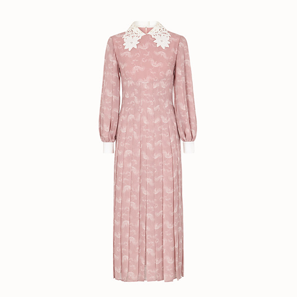 FENDI DRESS - Pink silk dress - view 1 small thumbnail