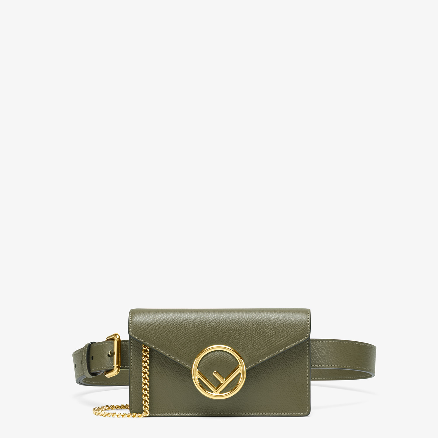 FENDI BELT BAG - Green leather belt bag - view 1 detail