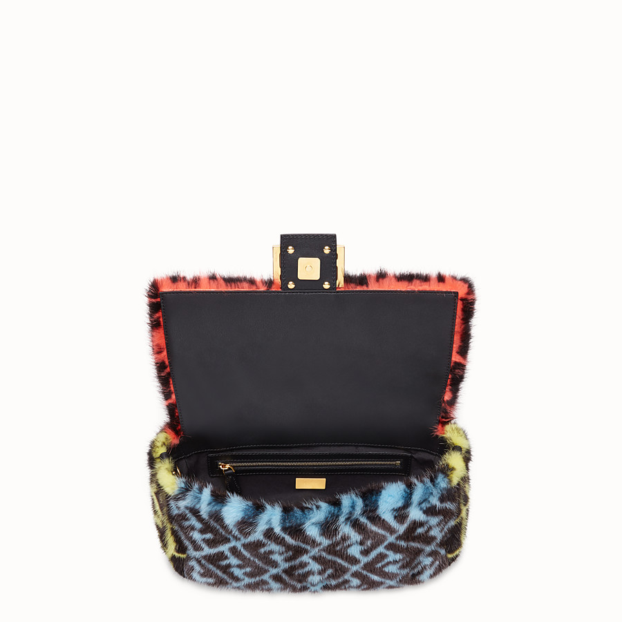FENDI BAGUETTE - Multicolour mink bag - view 4 detail