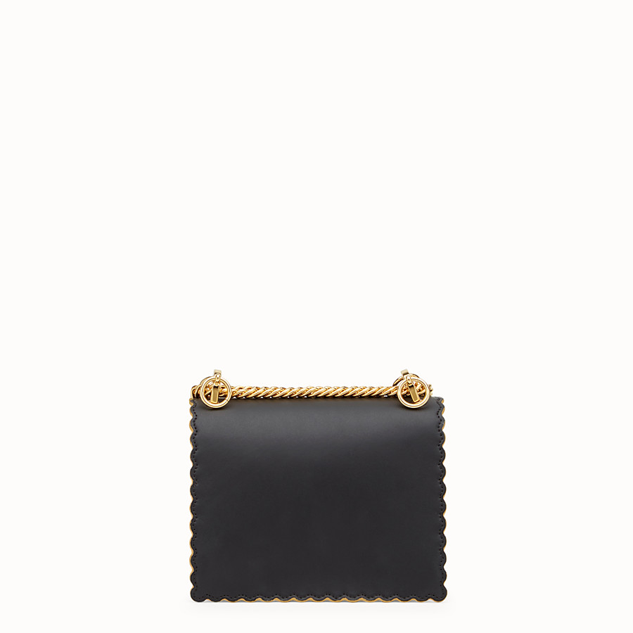 FENDI KAN I SMALL - Black leather mini bag - view 4 detail