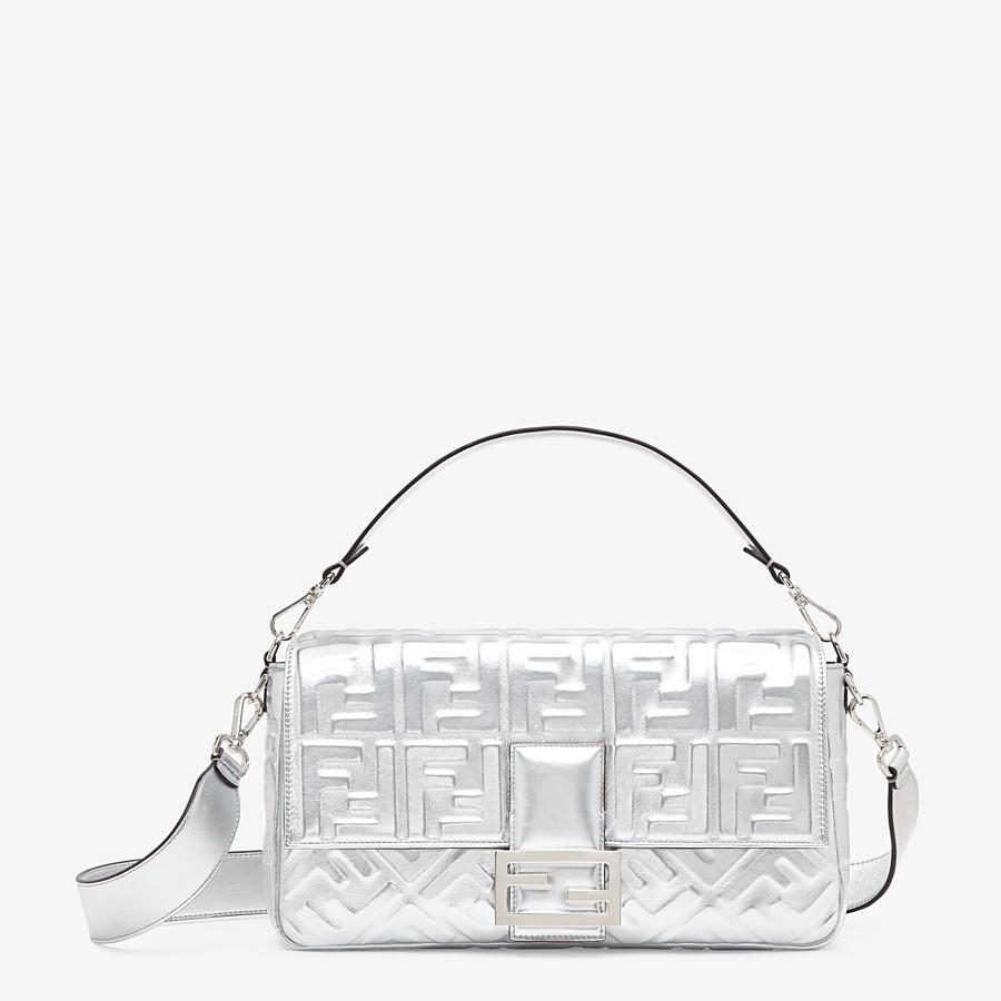 FENDI BAGUETTE LARGE - Silver leather bag - view 1 detail
