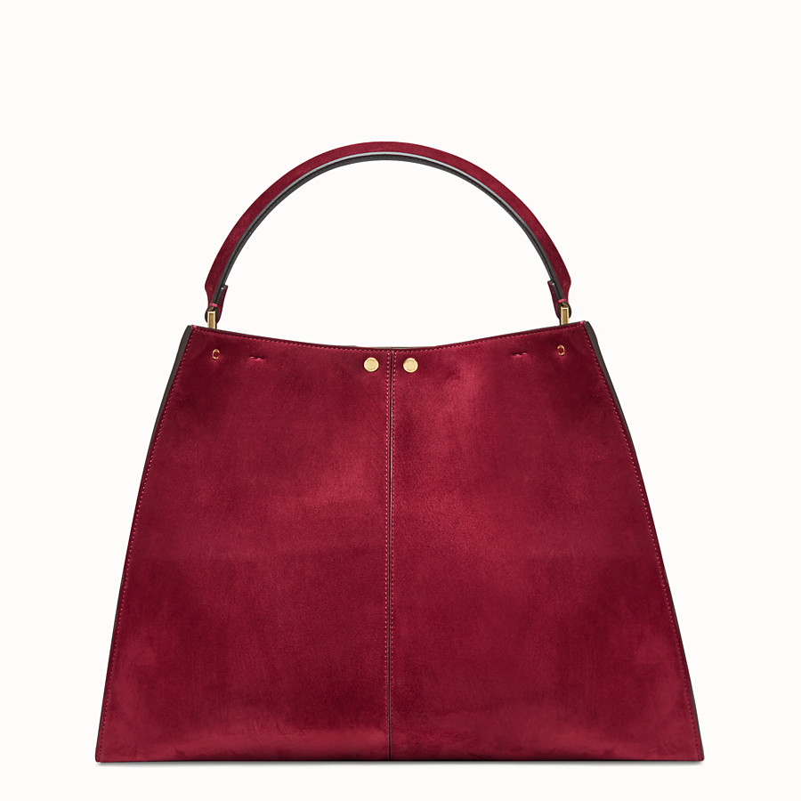 FENDI PEEKABOO X-LITE - Fuchsia coloured suede bag - view 5 detail