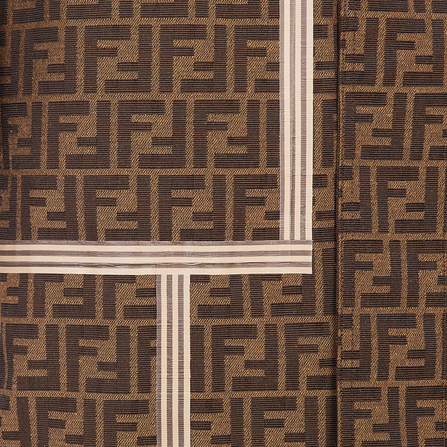 FENDI TRENCH COAT - Brown fabric trench coat - view 3 detail
