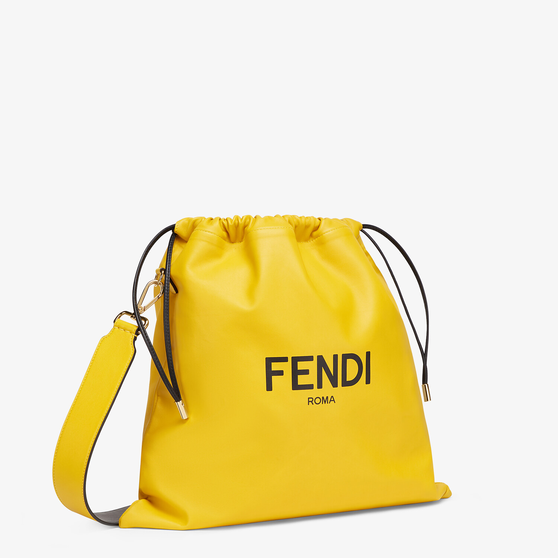 FENDI FENDI PACK MEDIUM POUCH - Borsa in nappa gialla - vista 2 dettaglio
