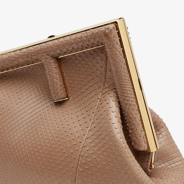 FENDI FENDI FIRST SMALL - Beige python bag - view 5 detail