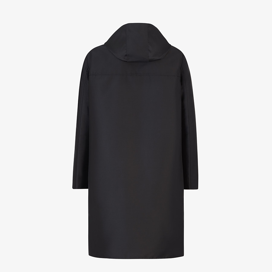 FENDI DUFFEL COAT - Black nylon coat - view 2 detail