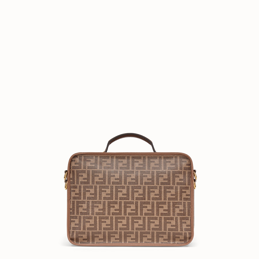 FENDI SMALL TRAVEL BAG - Large brown fabric bag - view 3 detail