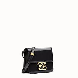 FENDI KARLIGRAPHY - Tasche aus schwarzem Lackleder - view 3 thumbnail