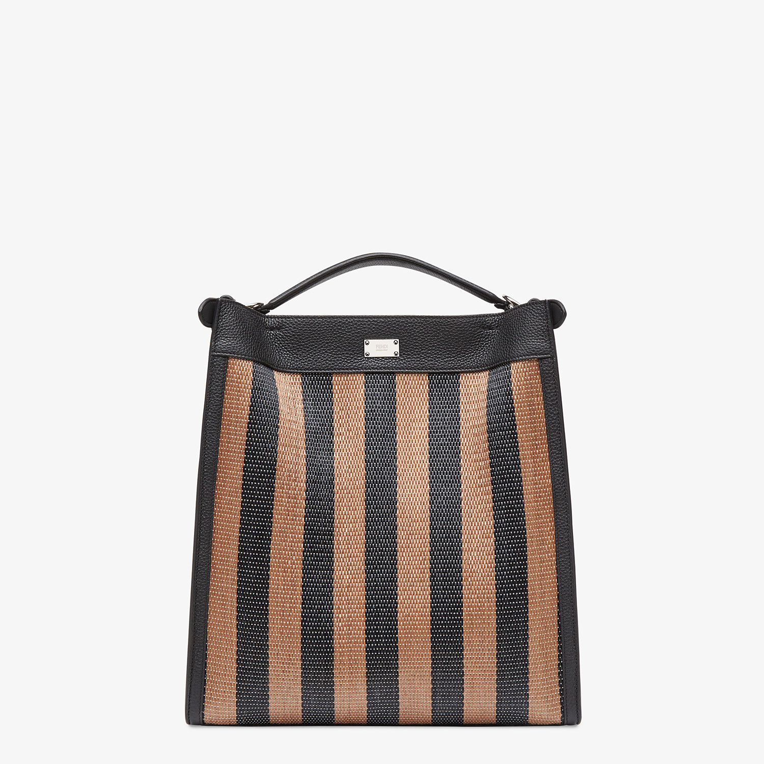 FENDI PEEKABOO X-LITE FIT - Brown raffia bag - view 4 detail