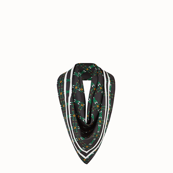 FENDI KEFFIYEH - Black silk and cotton scarf - view 1 small thumbnail