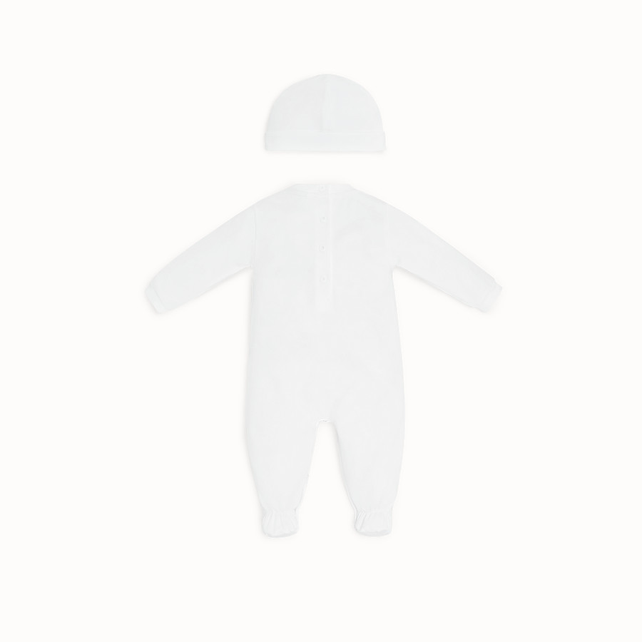 FENDI BABY KIT - White cotton Fendi kit - view 2 detail