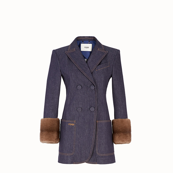 FENDI GIACCA - Blazer in denim blu - vista 1 thumbnail piccola