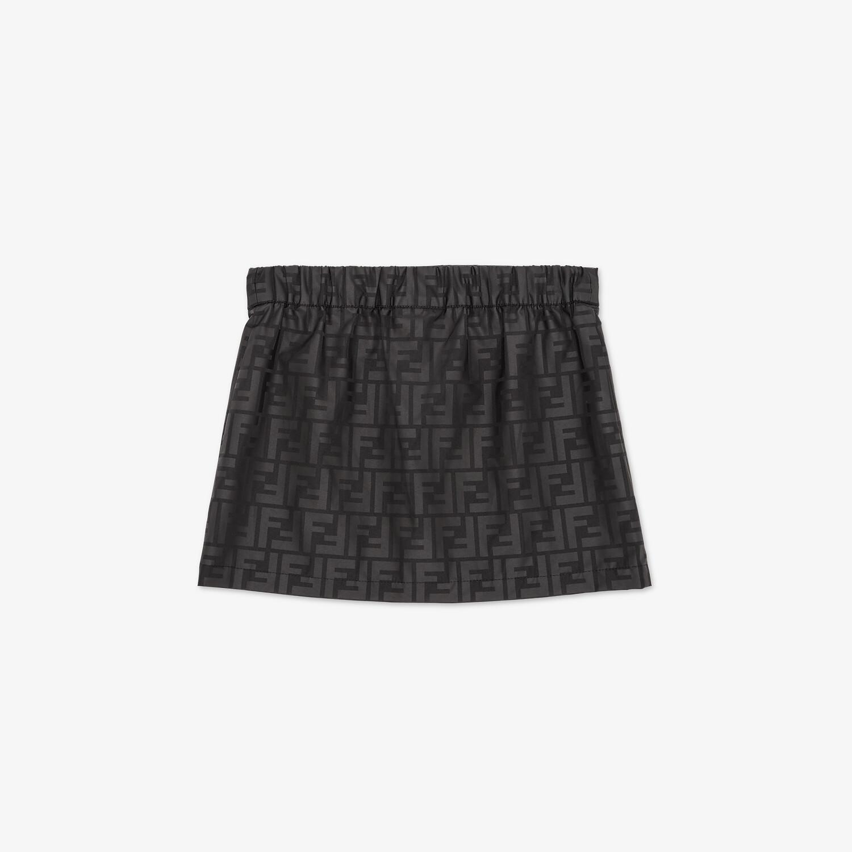FENDI JUNIOR SKIRT - Matt black nylon junior skirt - view 2 detail