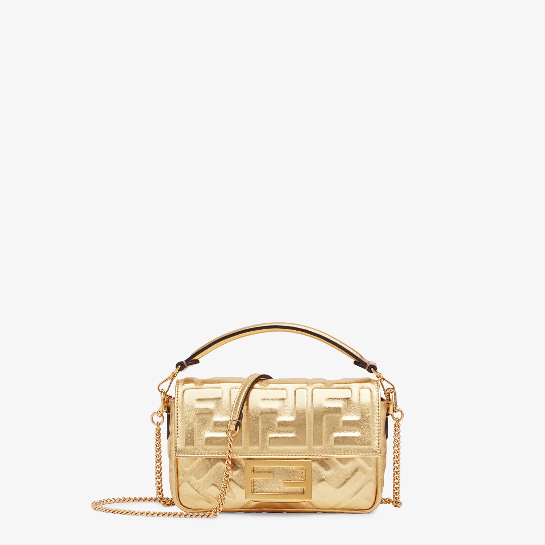 FENDI BAGUETTE MINI - Golden leather bag - view 1 detail