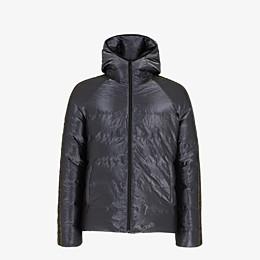 FENDI DOWN JACKET - Metallic tech fabric padded jacket - view 4 thumbnail