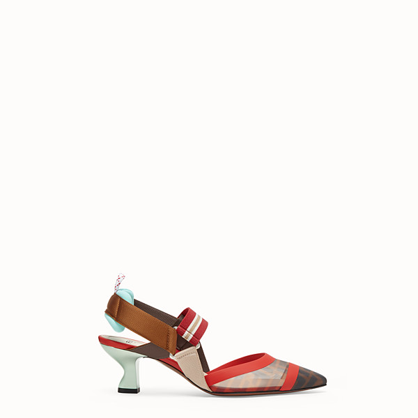 FENDI SLINGBACKS - Multicolor technical-mesh Colibrì - view 1 small thumbnail