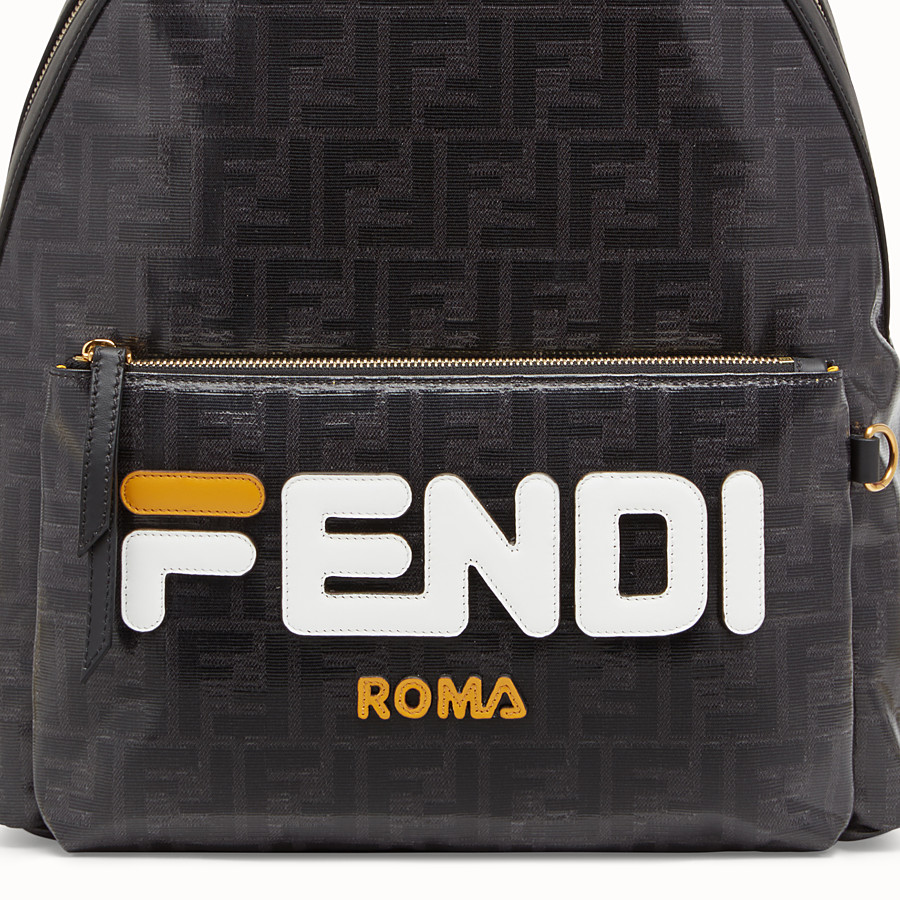 FENDI BACKPACK - Black fabric backpack - view 4 detail