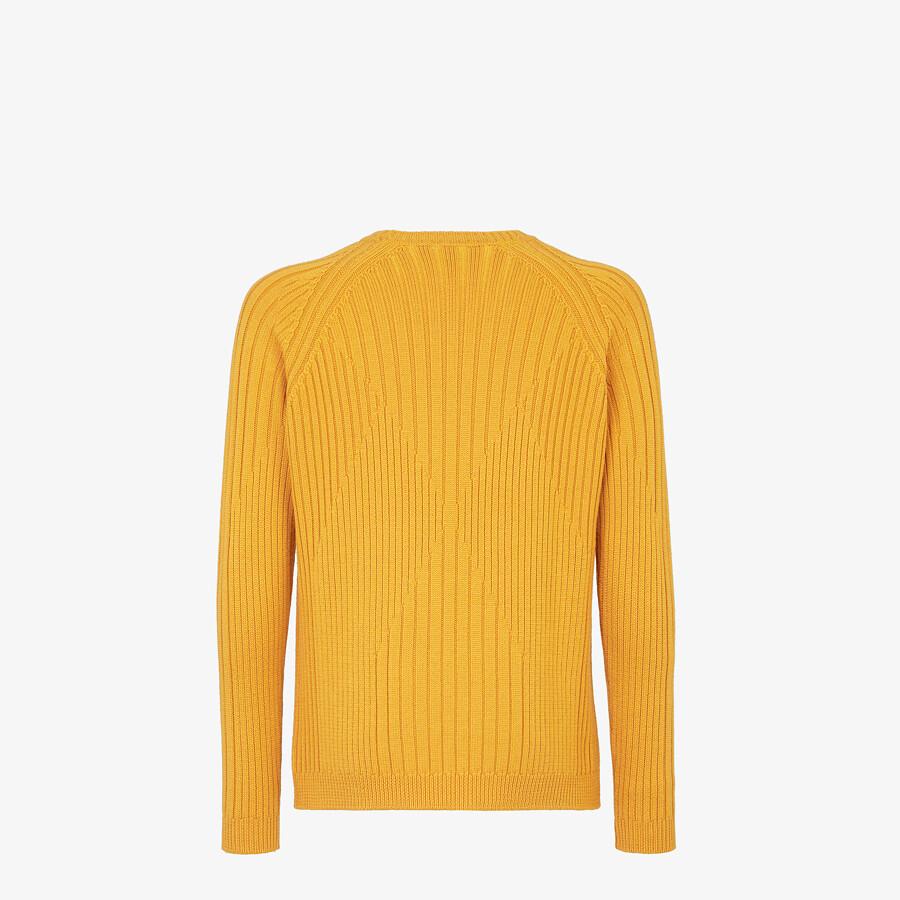 FENDI SWEATER - Yellow wool jumper - view 2 detail