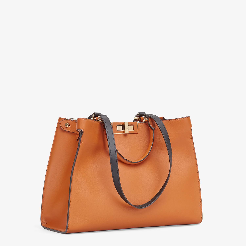 FENDI SMALL PEEKABOO X-TOTE -  Brown leather bag - view 3 detail