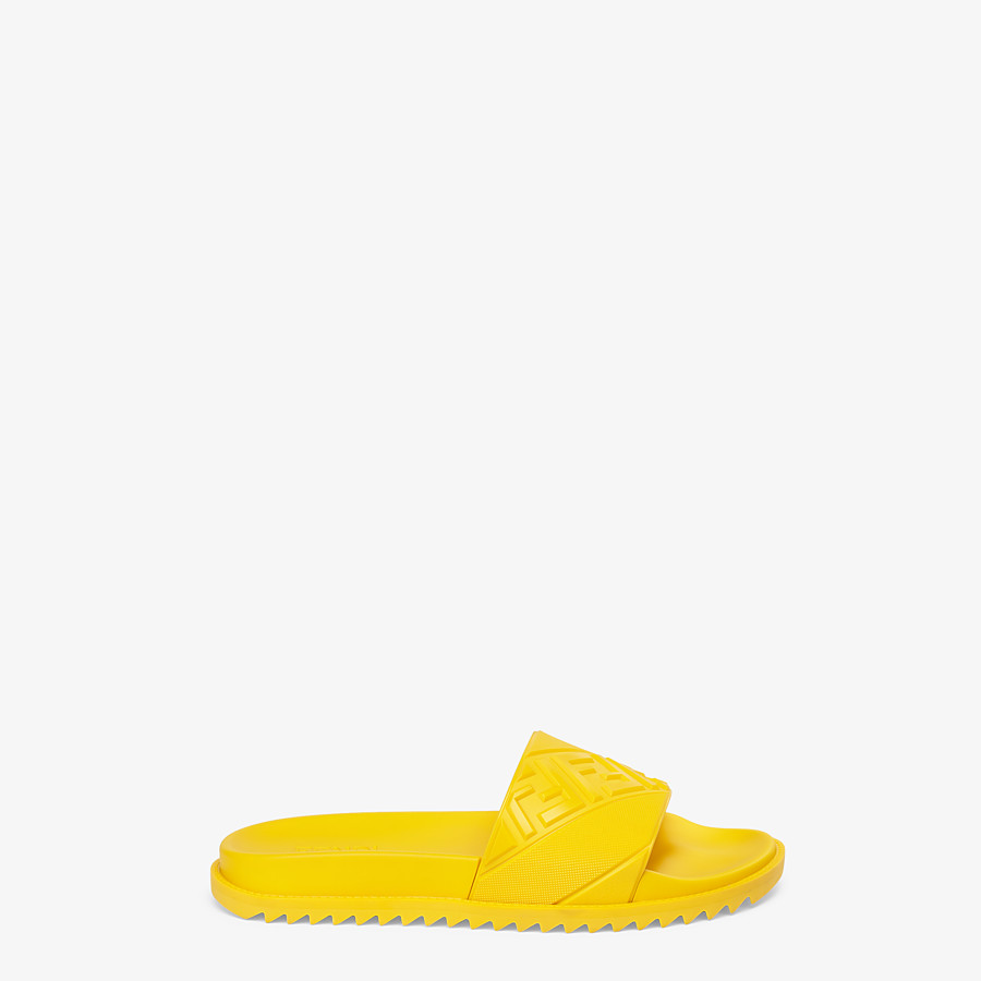 FENDI SLIDES - Yellow rubber slides - view 1 detail