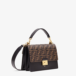 FENDI KAN U - Black leather bag - view 3 thumbnail
