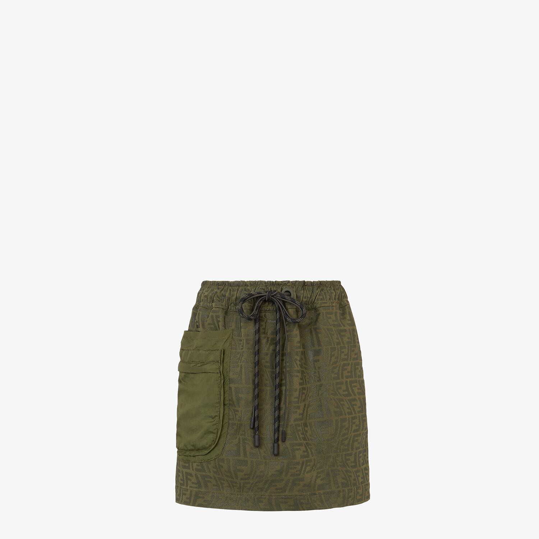 FENDI SKIRT - Green denim skirt - view 1 detail