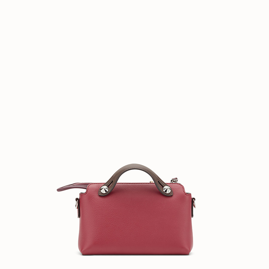 FENDI BY THE WAY MINI - Small red leather Boston bag - view 3 detail