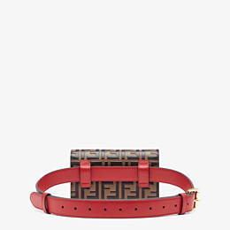 FENDI BELT BAG - Red leather belt bag - view 4 thumbnail