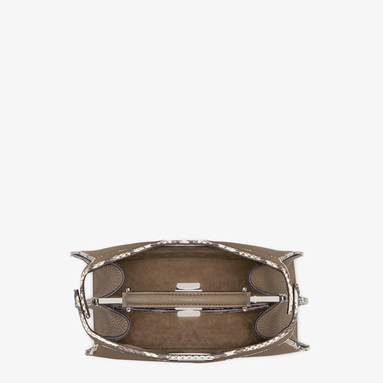 FENDI PEEKABOO ISEEU SMALL - Gray full grain leather and elaphe bag - view 4 detail