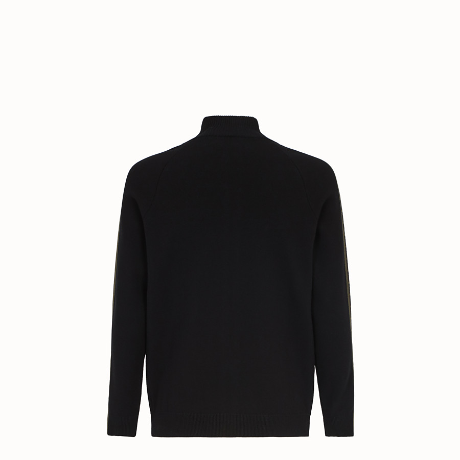 FENDI CARDIGAN - Black fabric jumper - view 2 detail