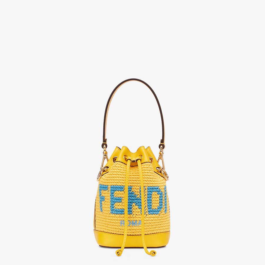 FENDI MON TRESOR - Yellow crochet cotton mini-bag - view 1 detail