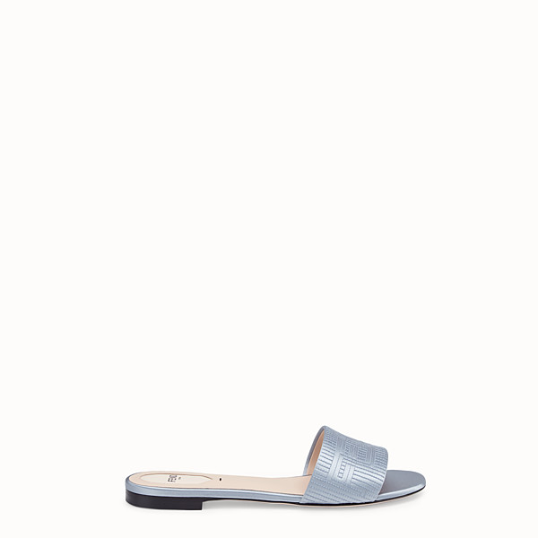 FENDI SABOTS - Grey satin slides - view 1 small thumbnail