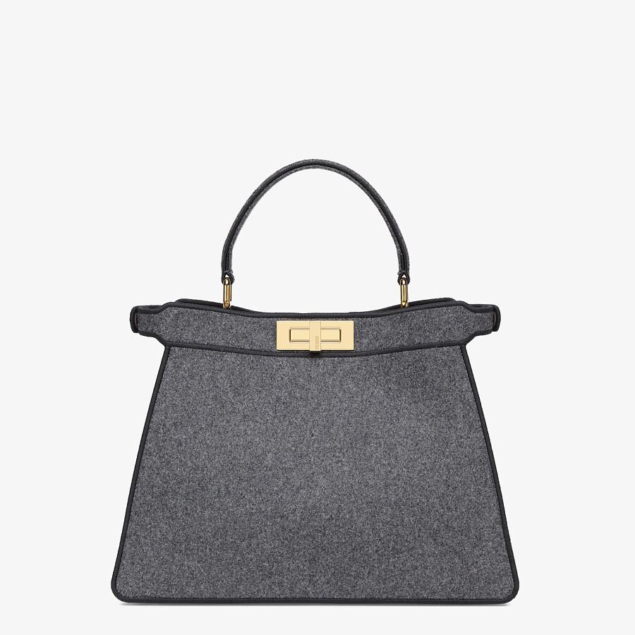 FENDI MEDIUM PEEKABOO ISEEU - Gray flannel bag - view 6 detail